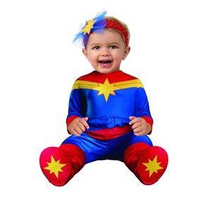 Captain Marvel Hero Infant Baby Halloween Costume